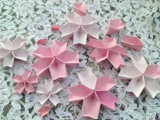 すべての折り紙 ランドセル 折り紙 折り方 : 桜らしくシンプルに二色使いで ...